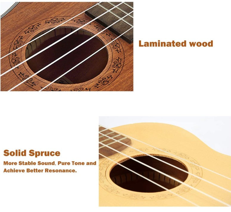 HRICANE Concert Spruce Top Mahogany back and side Ukulele