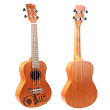 Load image into Gallery viewer, Hricane concert mahogany flower carved pattern ukulele