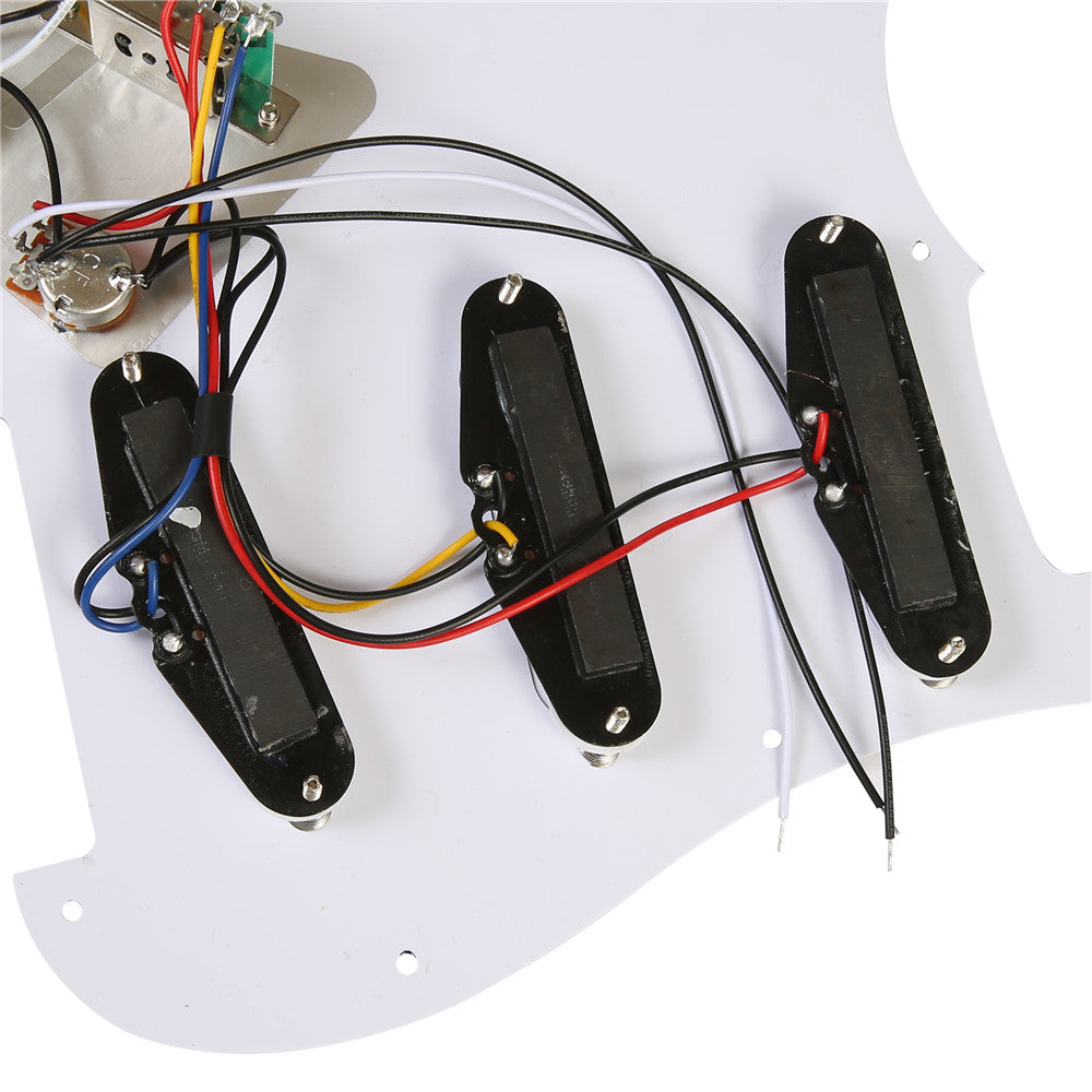 Prewired SSS 9 hole stratocaster guitar Pickup SSS W/B/W 3ply pickguard kit for stratocaster guitar
