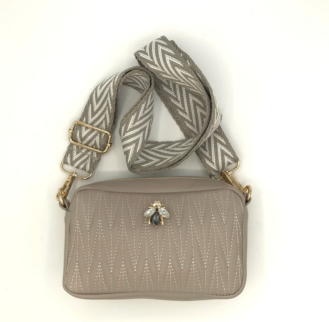 Pre order Rivington Bee bag- Taupe small