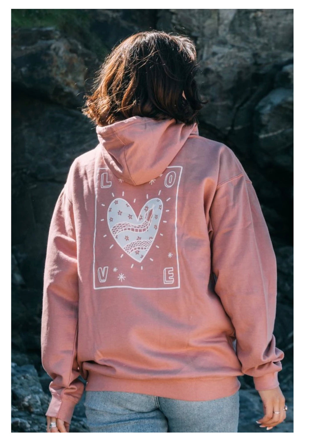 Olive & Frank Love Hoody Dusty Pink
