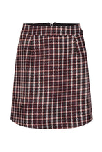 Load image into Gallery viewer, Pixie skirt in burgundy check