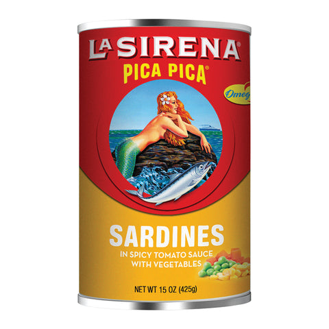 La Sirena Pica Pica con vegetables Sardinas Cans & Jars 5oz