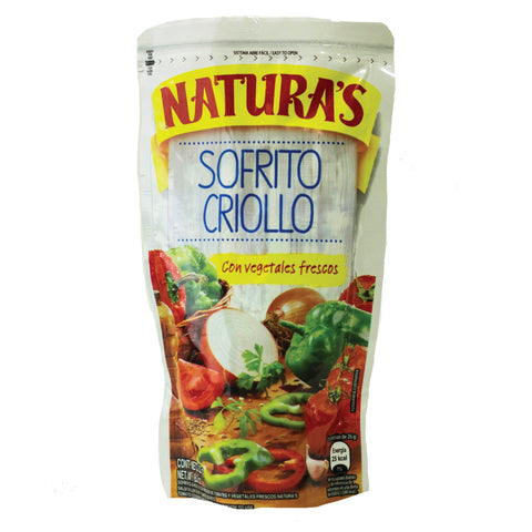 Natura's Sofrito Criolla cans and jars