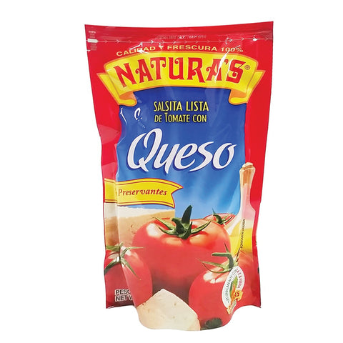 Natura's Cheese Salsa Con Queso cans and jars