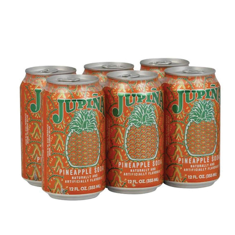Jupiña Pineapple Soda 12 oz. 6 pack