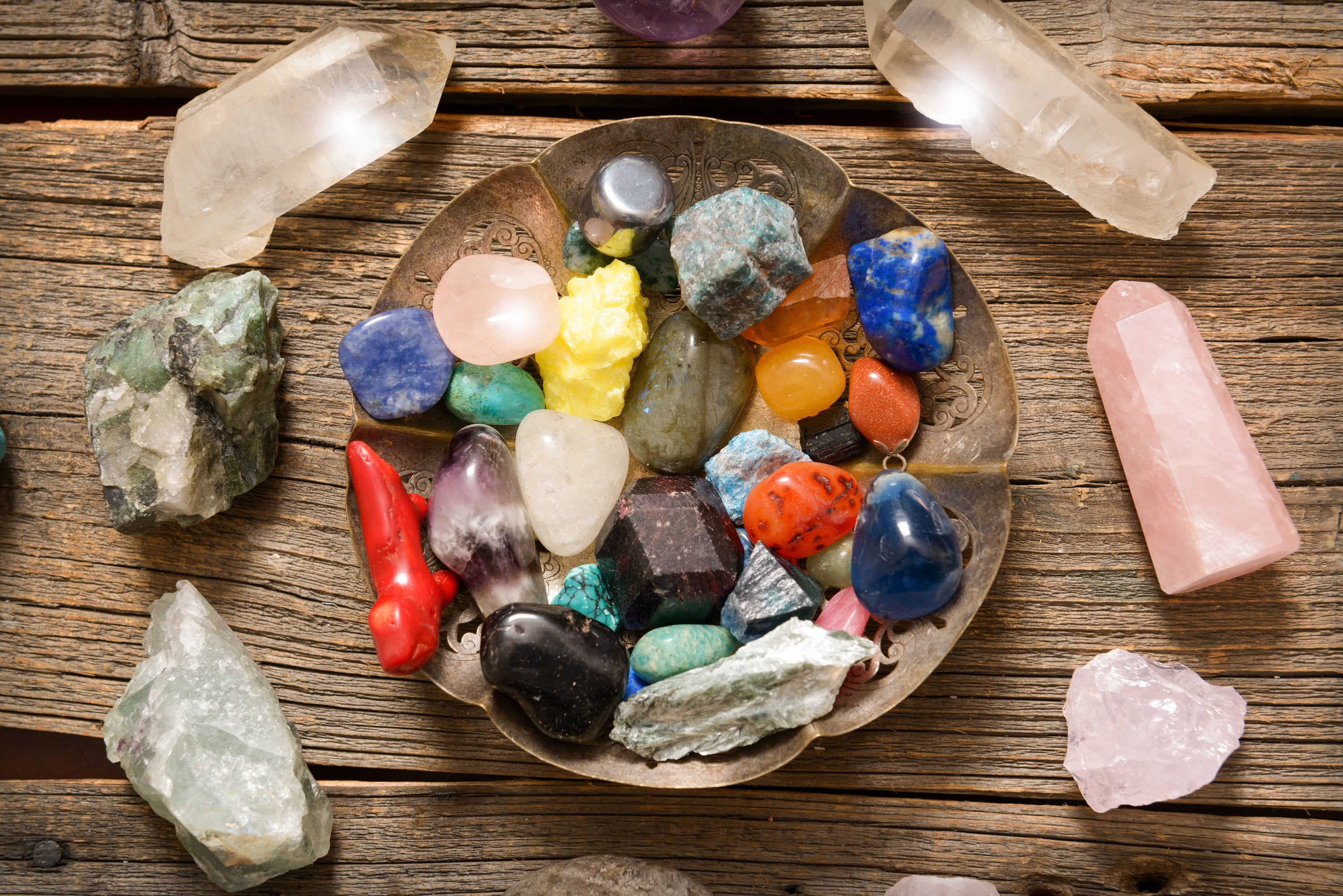 Crystal Starter Kit, Crystal Kit With Book and Crystal Grid,