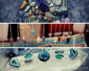 Crystal Starter Kits: Basic Crystal Samplers, Crystal Kits with guided grids, books & Crystal Oracle Deck with Book Set!