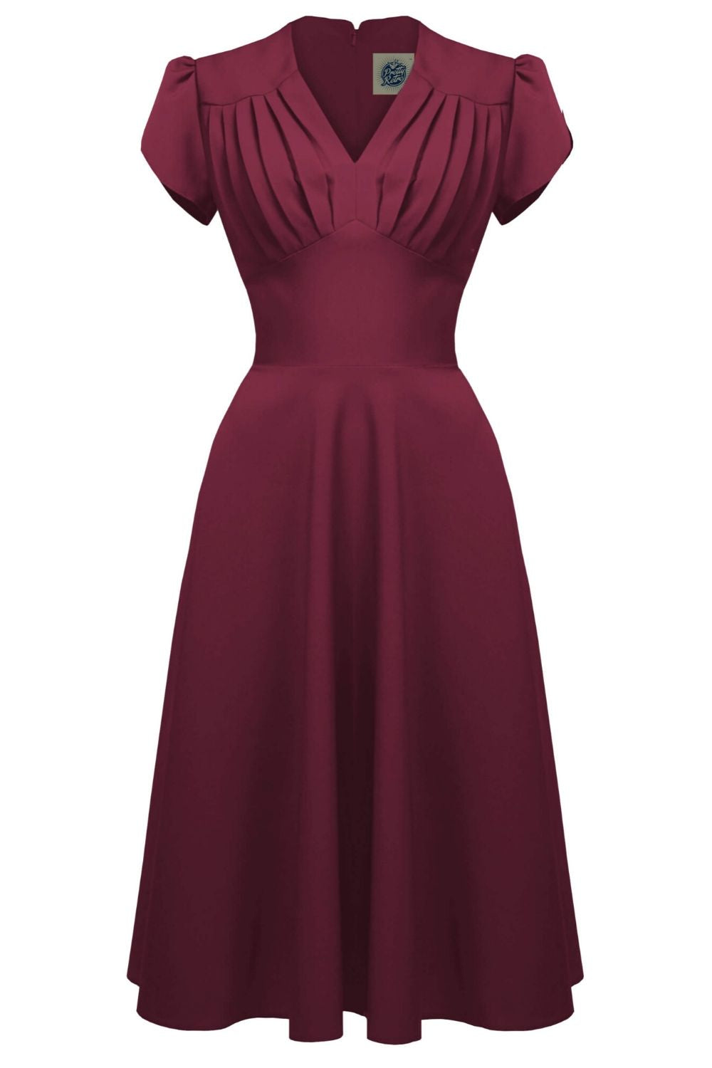 1940s Retro Swing Dress in Wine