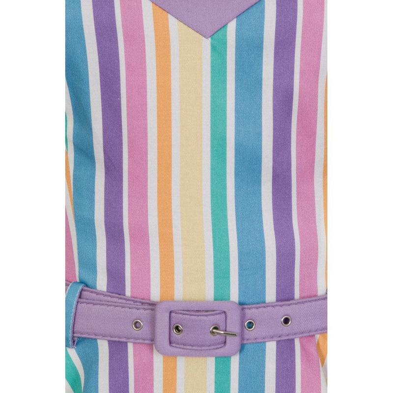 stripey rainbow dress