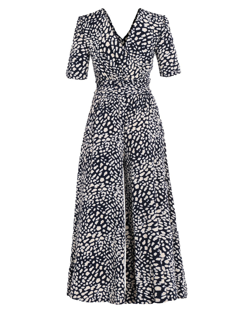 Bailee Navy Animal Jumpsuit