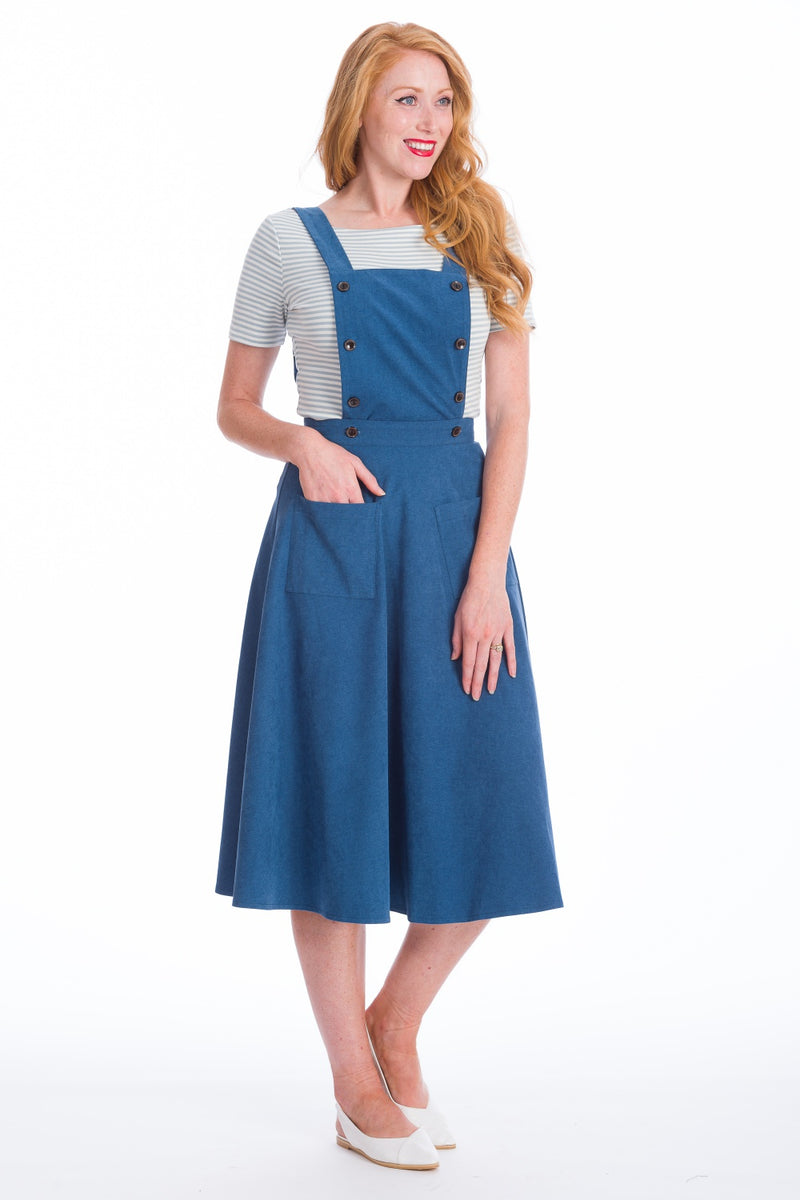 Booksmart Pinafore Dress & Skirt - Blue