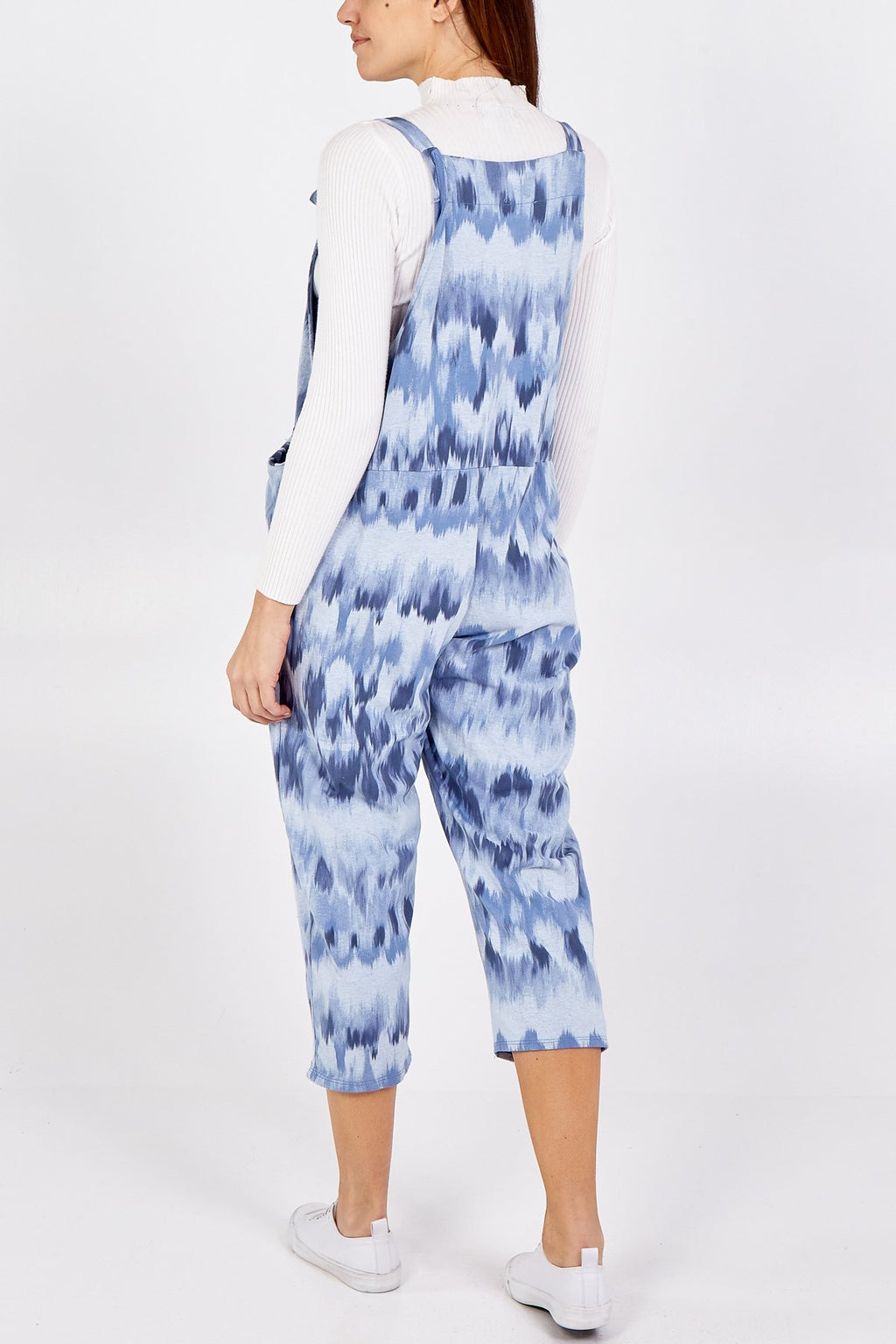 Blue Brush Tie Slouch Dungarees