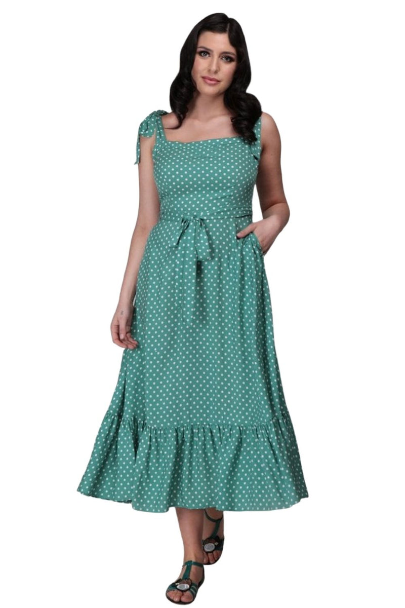 Dotty Summer Maxi Dress