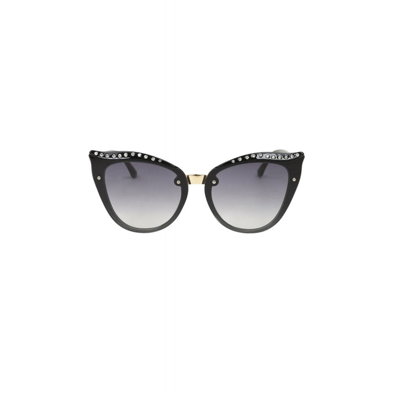 Glitter Cat Eye Sunglasses Black