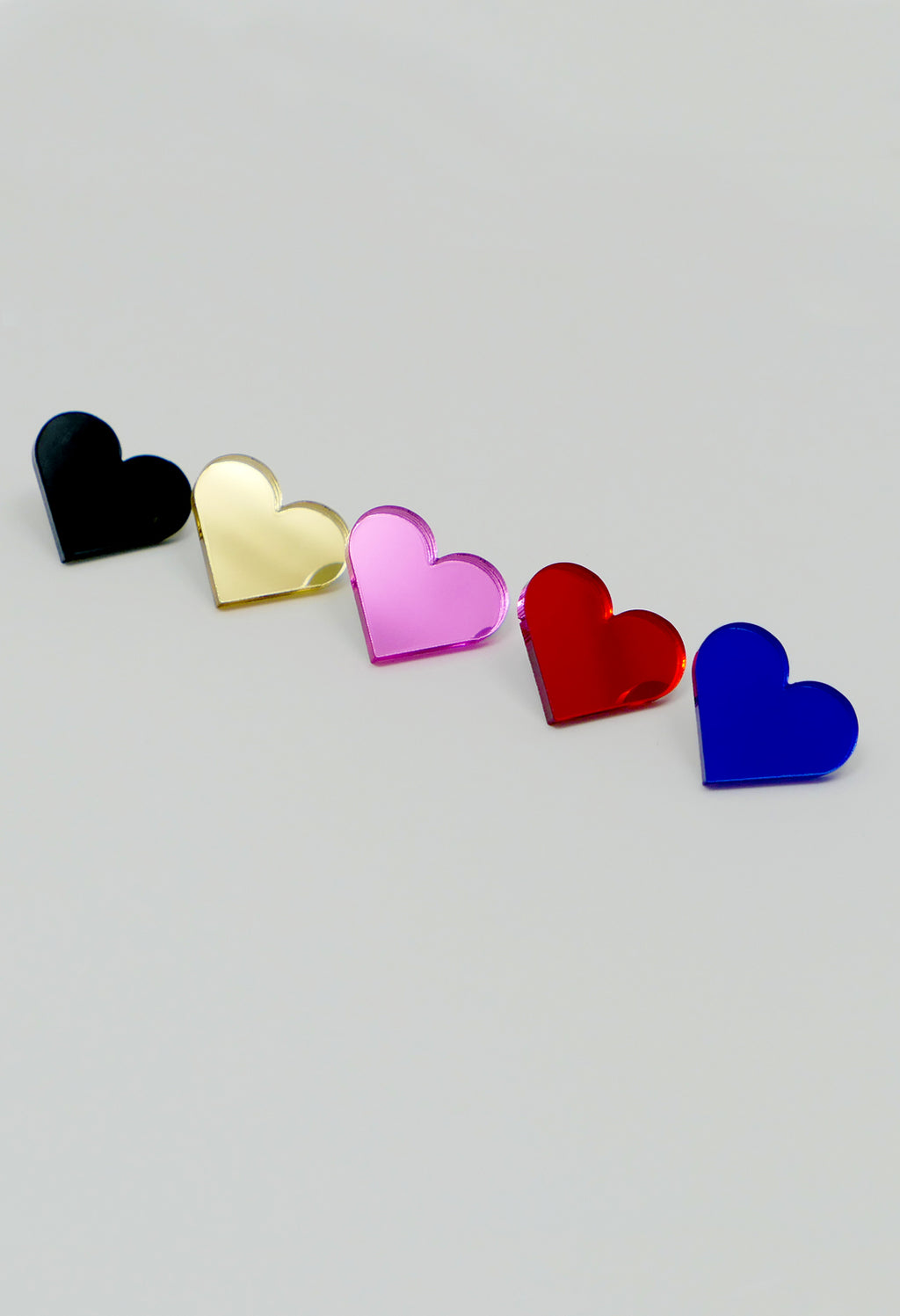 Heart Brooch - Black