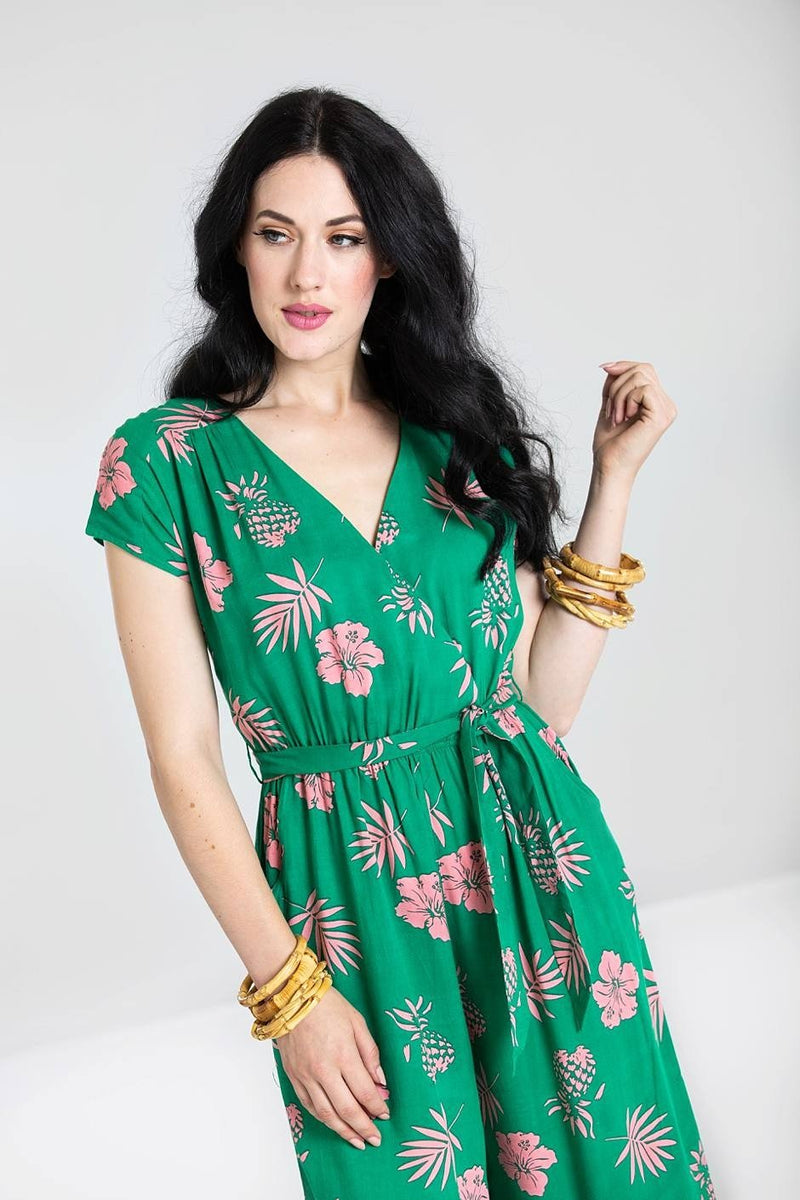 Pineapple print vintage jumpsuit