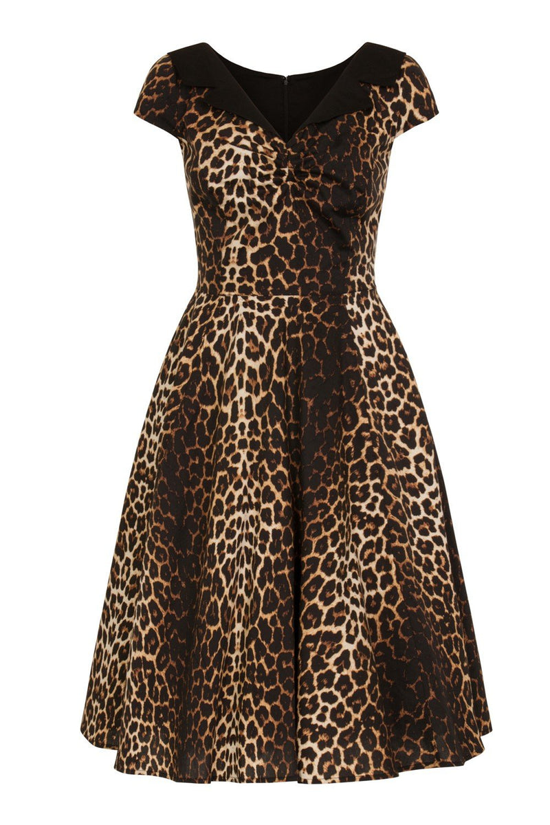 Panthera Leopard Print 1950's Swing Dress
