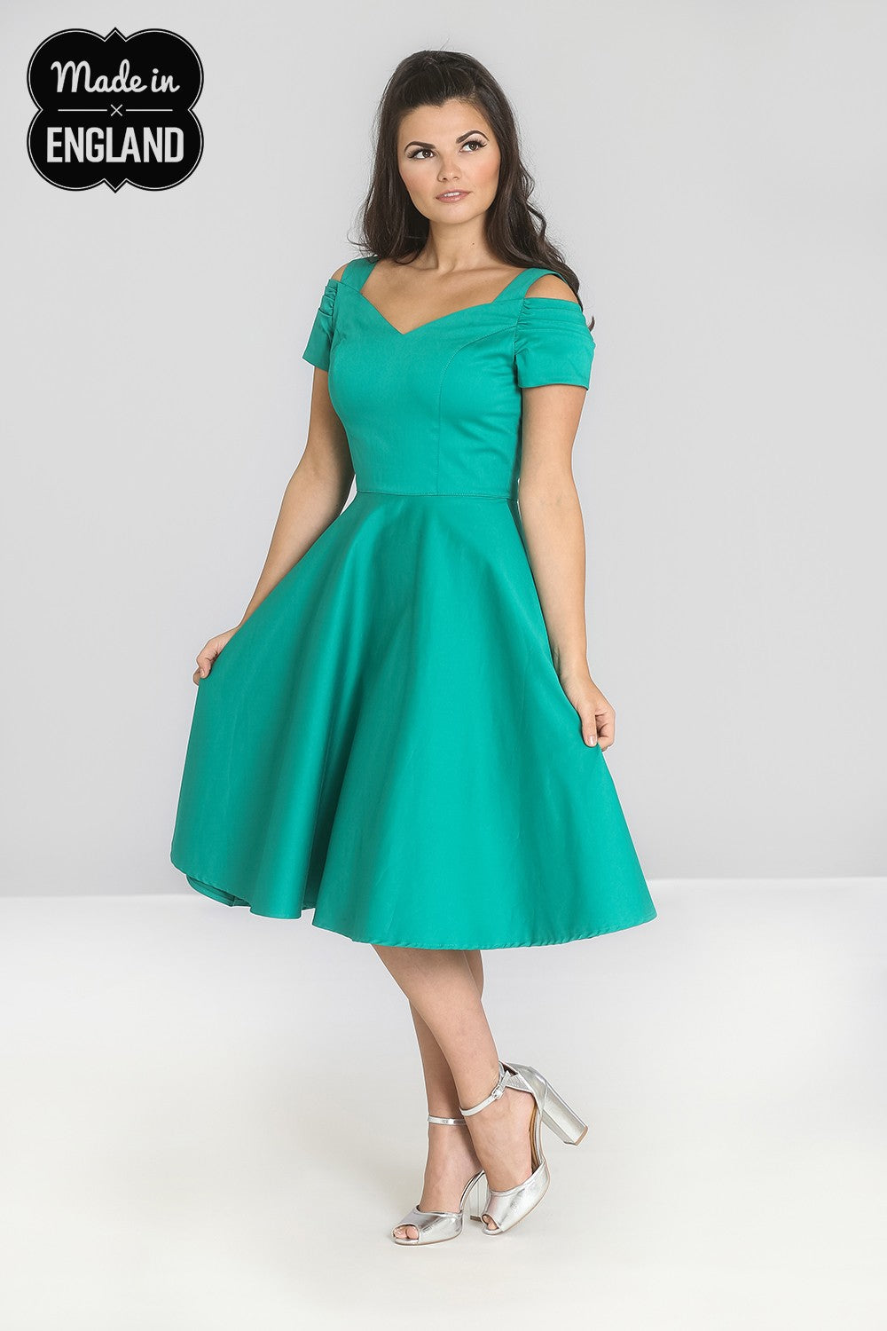 Isabella 1950s Prom Dress in Teal