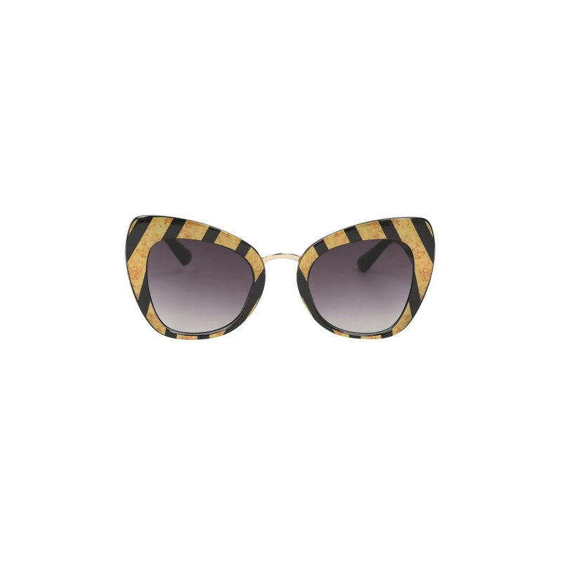 Retro Striped Sunglasses
