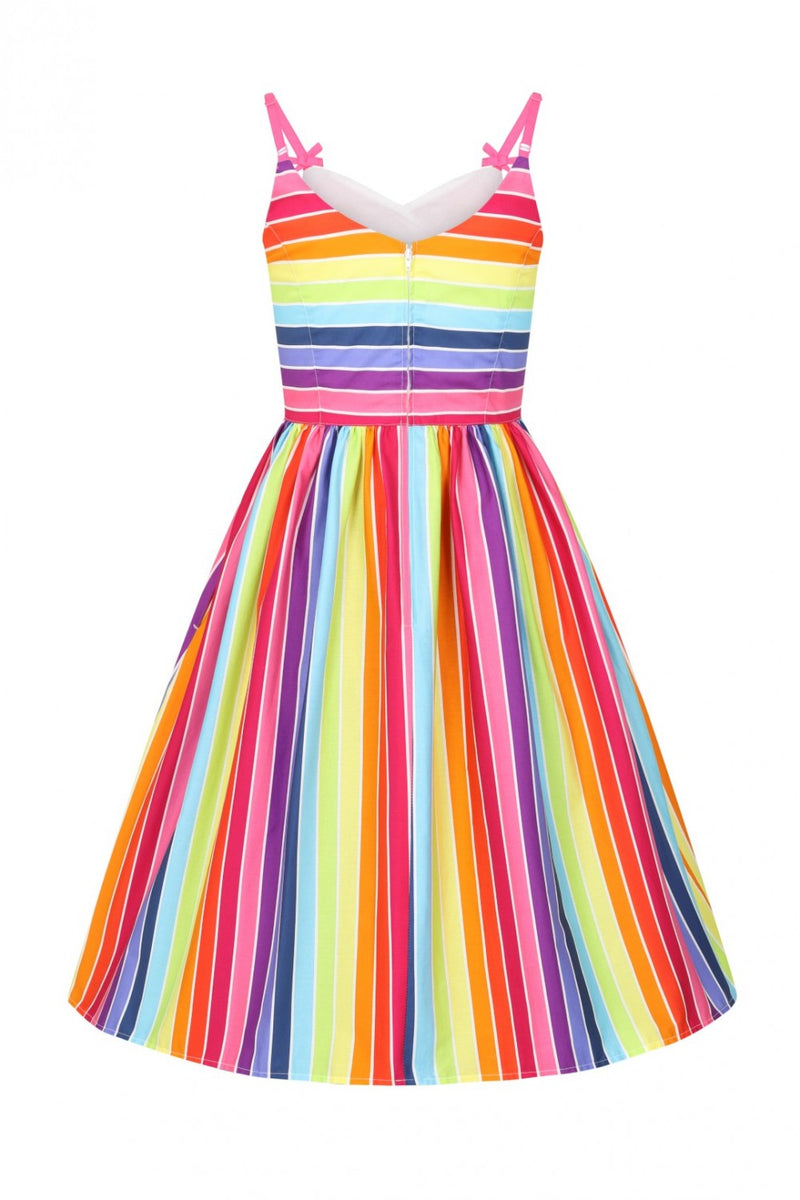 Rainbow Dress in bright stripes