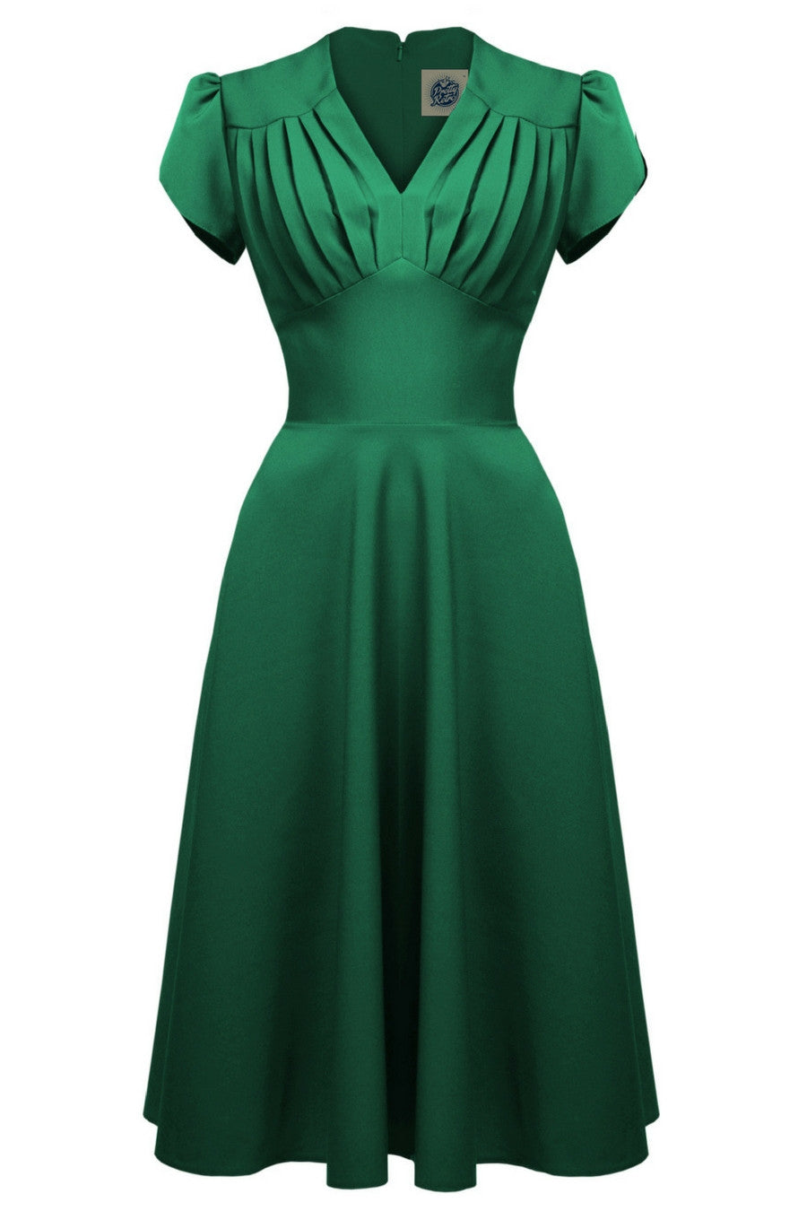 1940s swing dress in emerald green