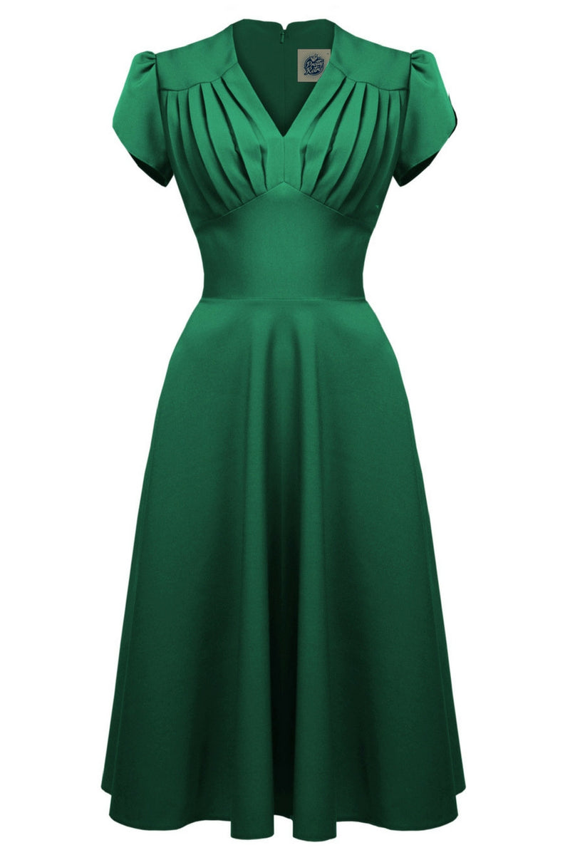 Clarence and Alabama - Pretty Retro, 1940s Retro Swing Dress in Emerald