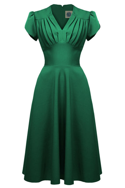 Retro Swing Dress in Emerald