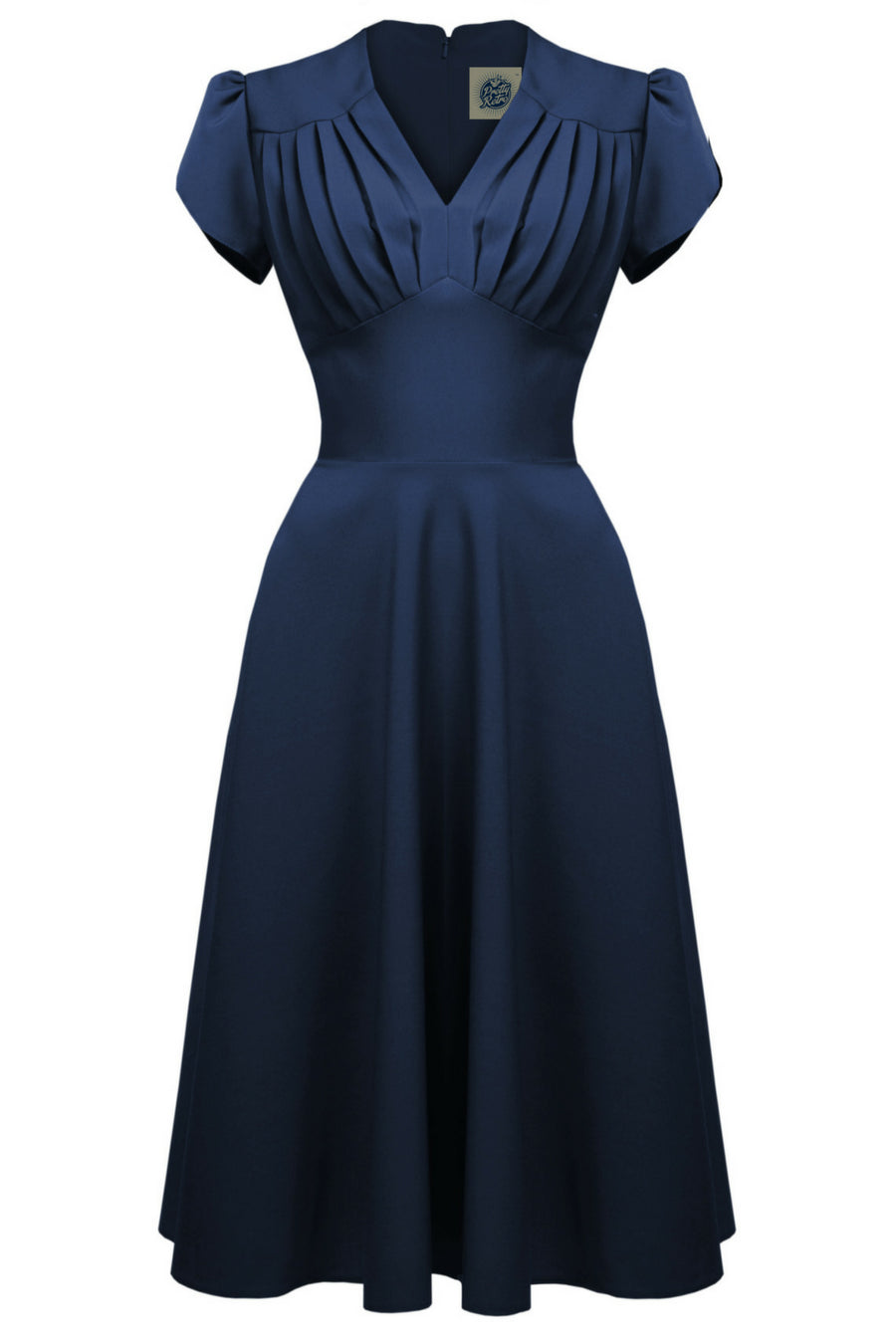 1940s swing Dress in Navy