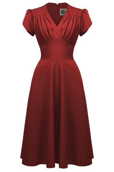 1940s Retro Swing Dress in Red