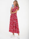 Retro Red Leaf Dress