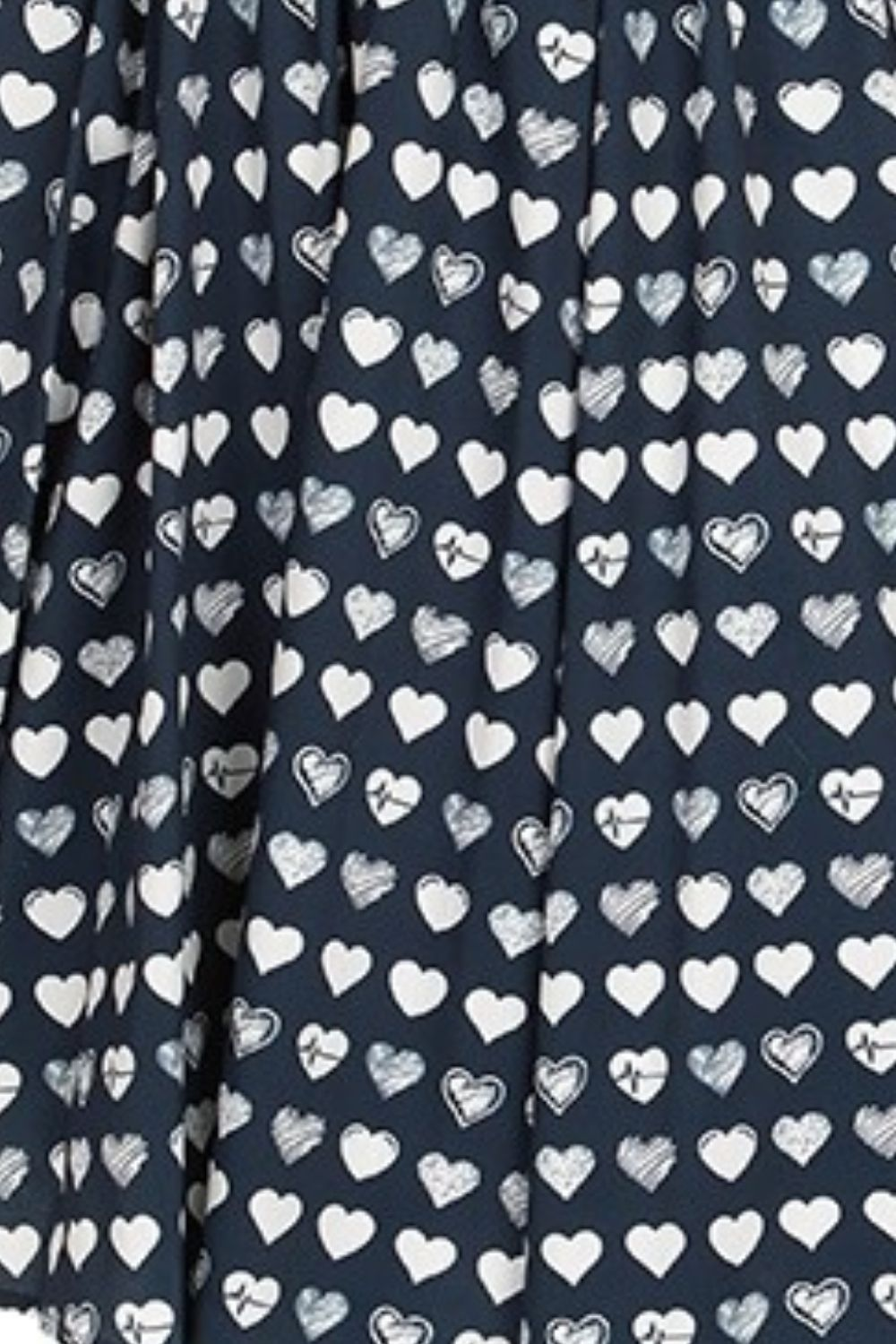 Retro Heart Print Dress