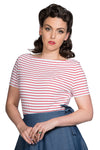 Sail Stripe Top in Red