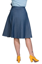 Sail Denim Wrap Skirt