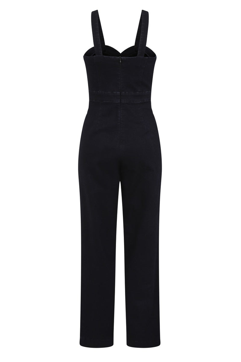 Sweetheart Denim Wide Legged Jumpsuit