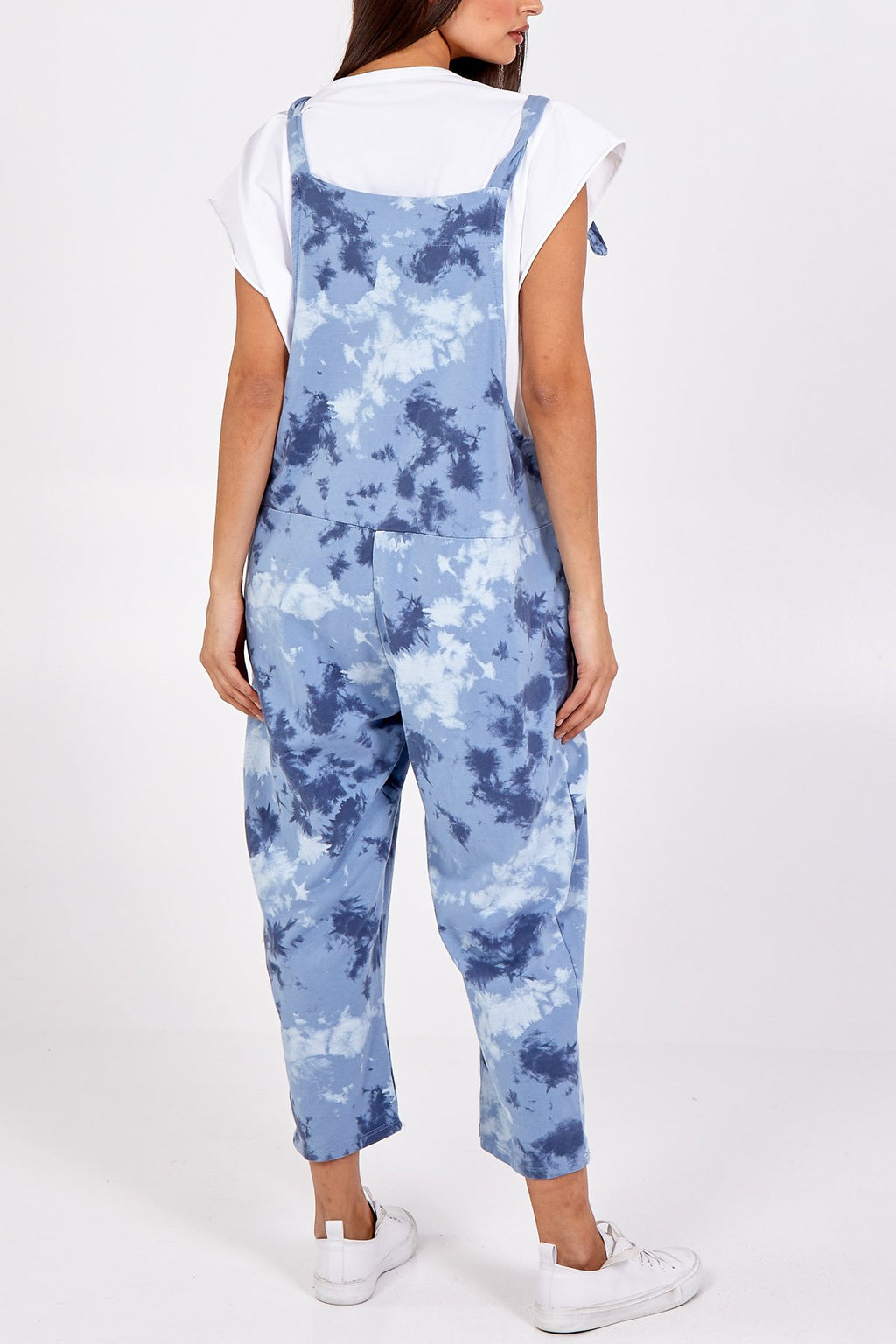 Blue Tie Dye Slouch Dungarees