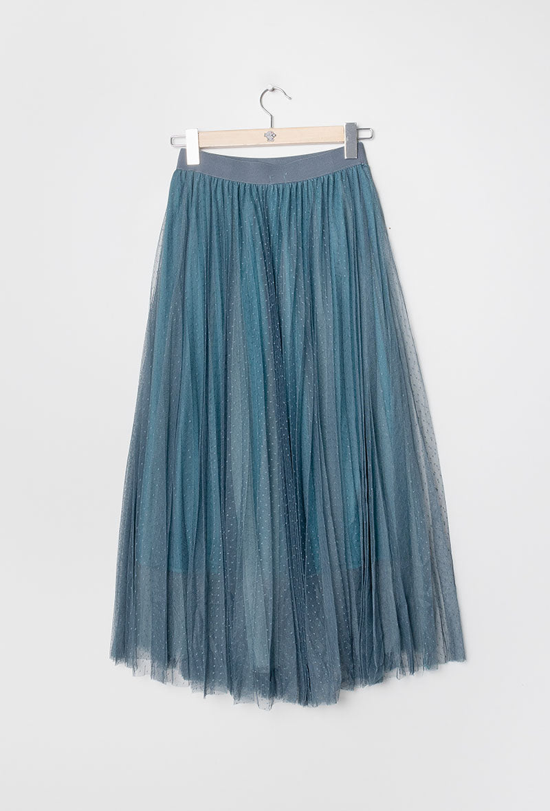 Romantic Tulle Skirt in Teal