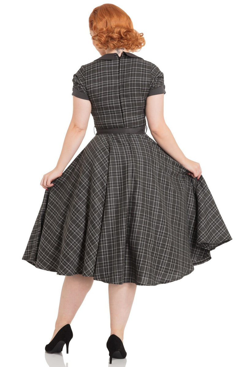 Clarence and Alabama - Voodoo Vixen, Ella Tartan Flare 1950s Style Dress