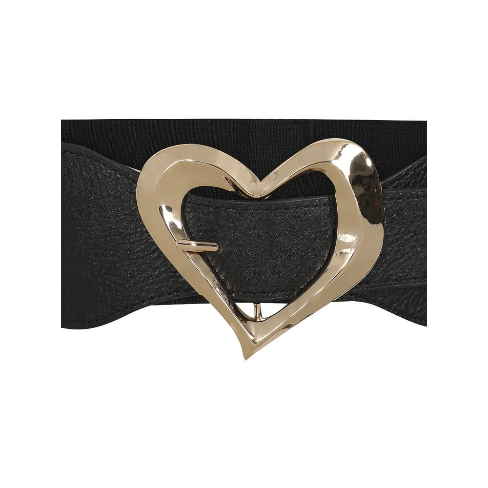 Chloe Heart Belt  in Black