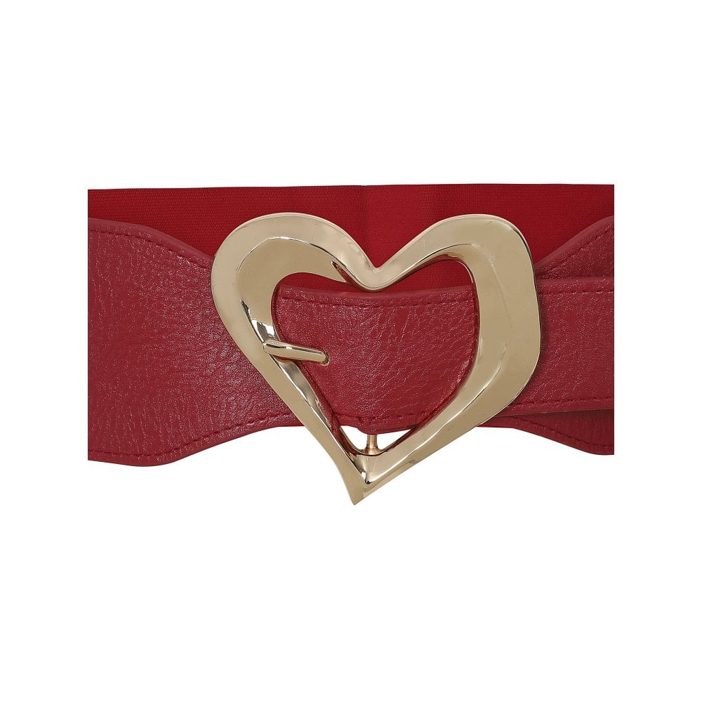 Chloe Heart Belt  in Red