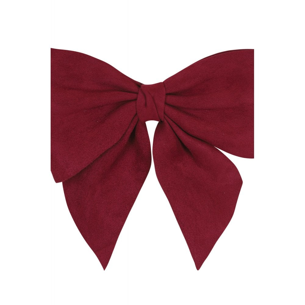 Deanna Plain Bow Belt Red