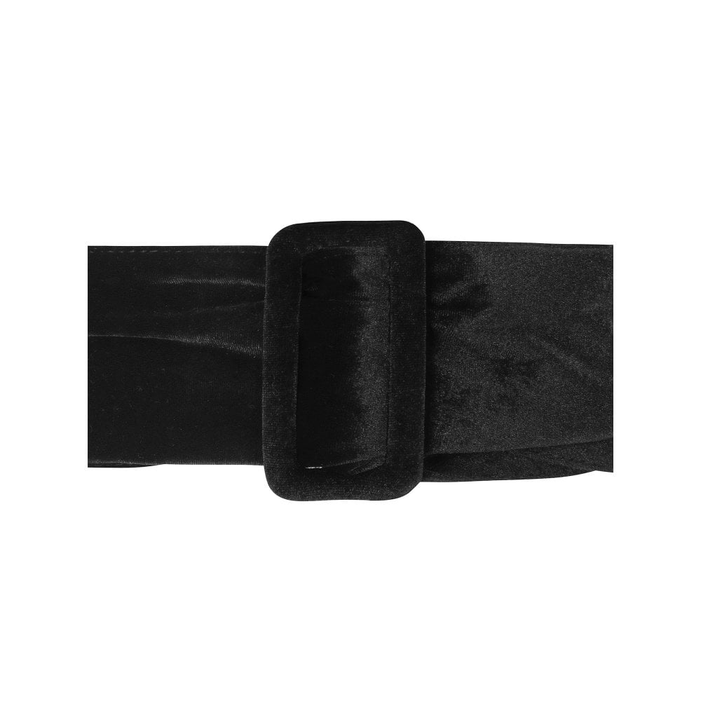 Katie Black Velvet Belt