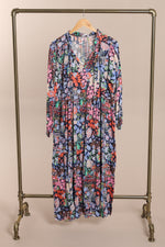 Floaty Smock Dress in Blue Marine