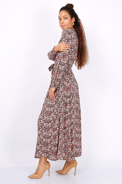 Maxi Shirt Dress Florals