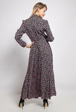 Maxi Shirt Dress Ditsy Pink
