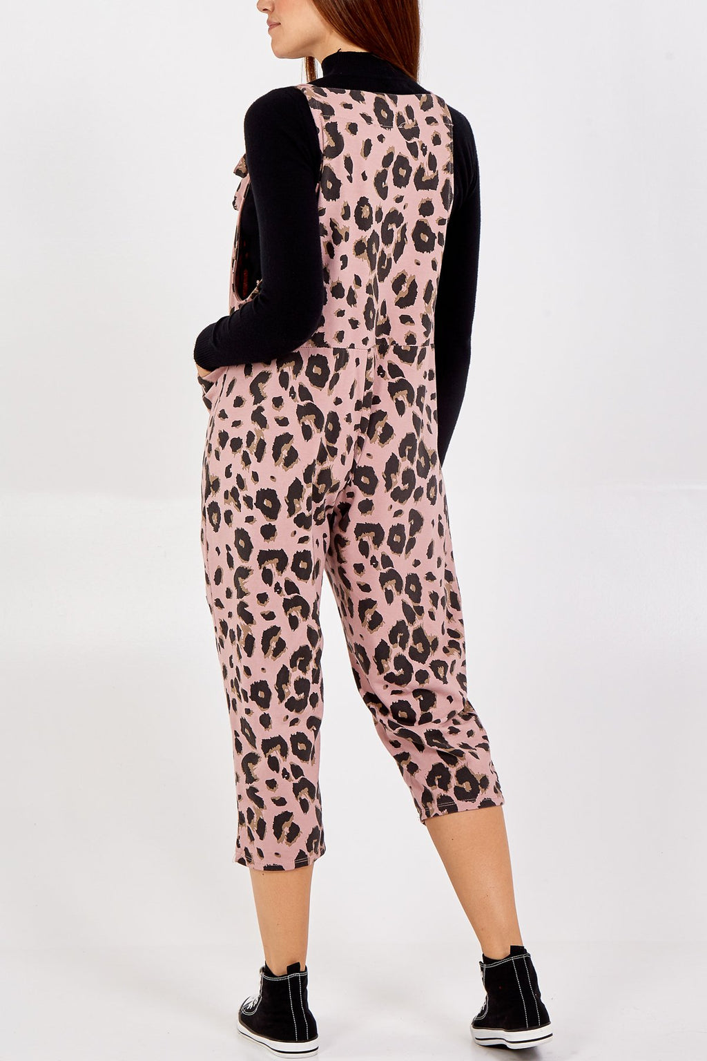 Pink Leopard Tie Slouch Dungarees