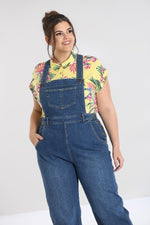 Retro Denim Dungarees Blue