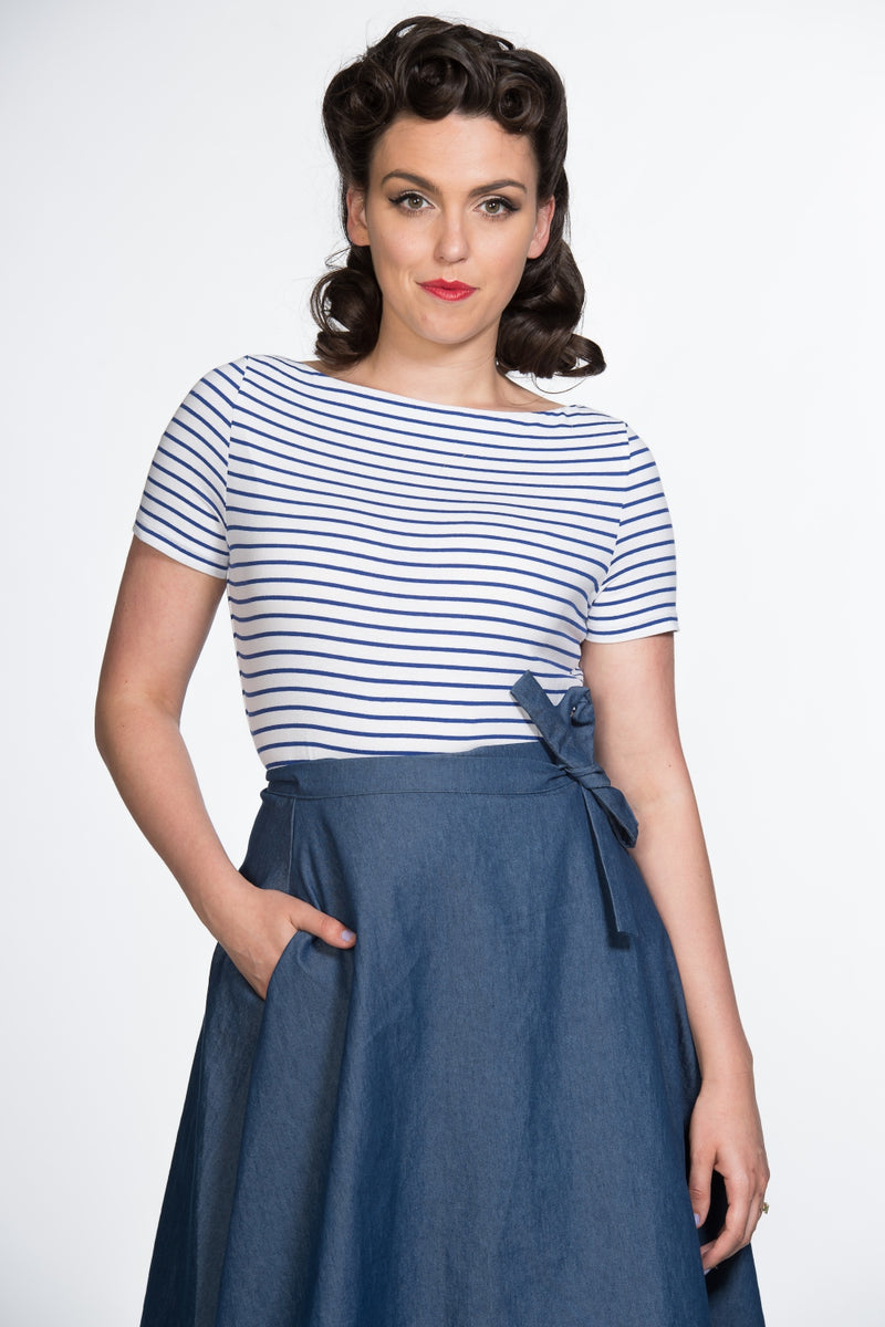 Sail Stripe Top in Blue