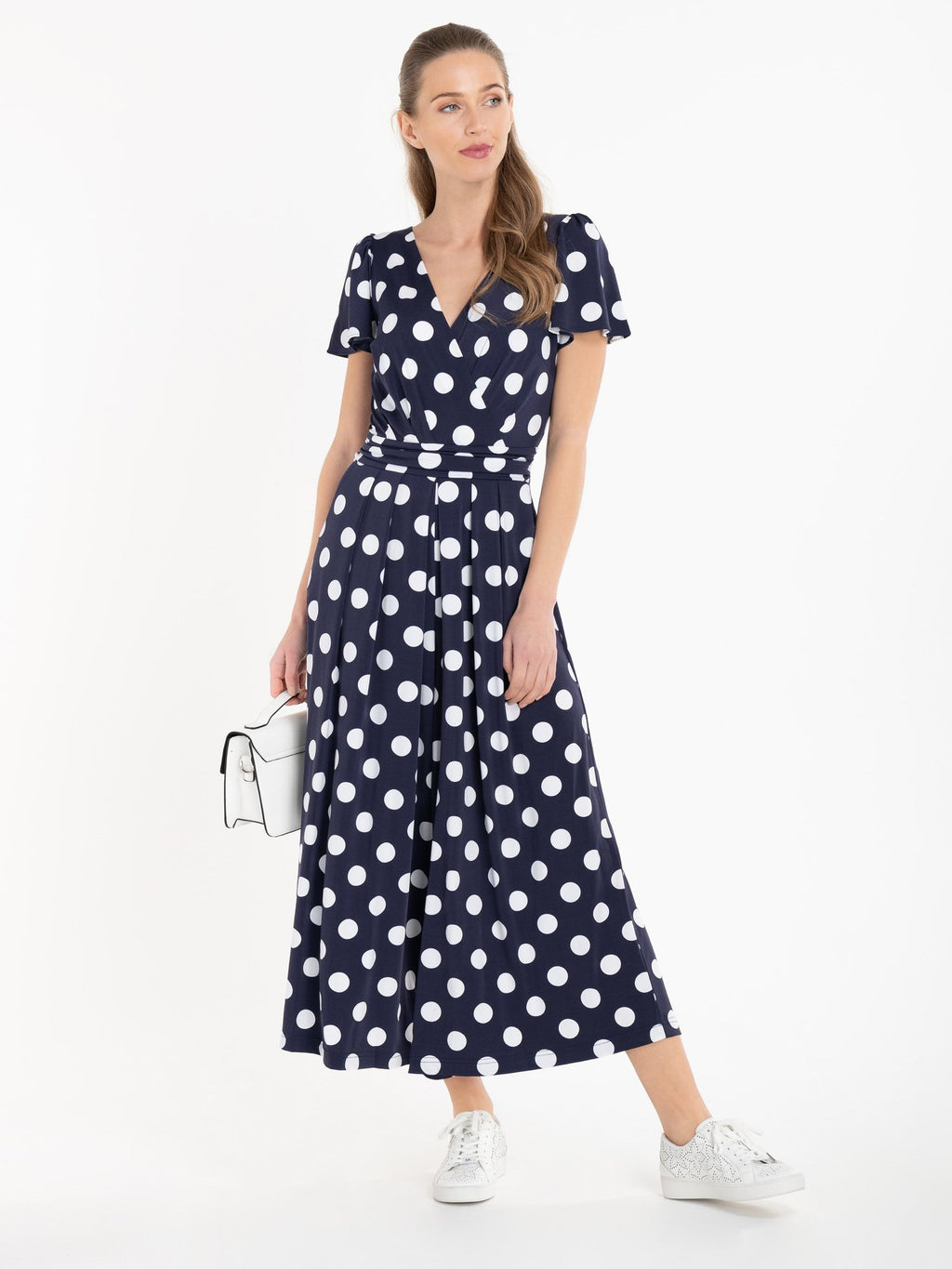 Sandra Navy Polka Dot Jumpsuit