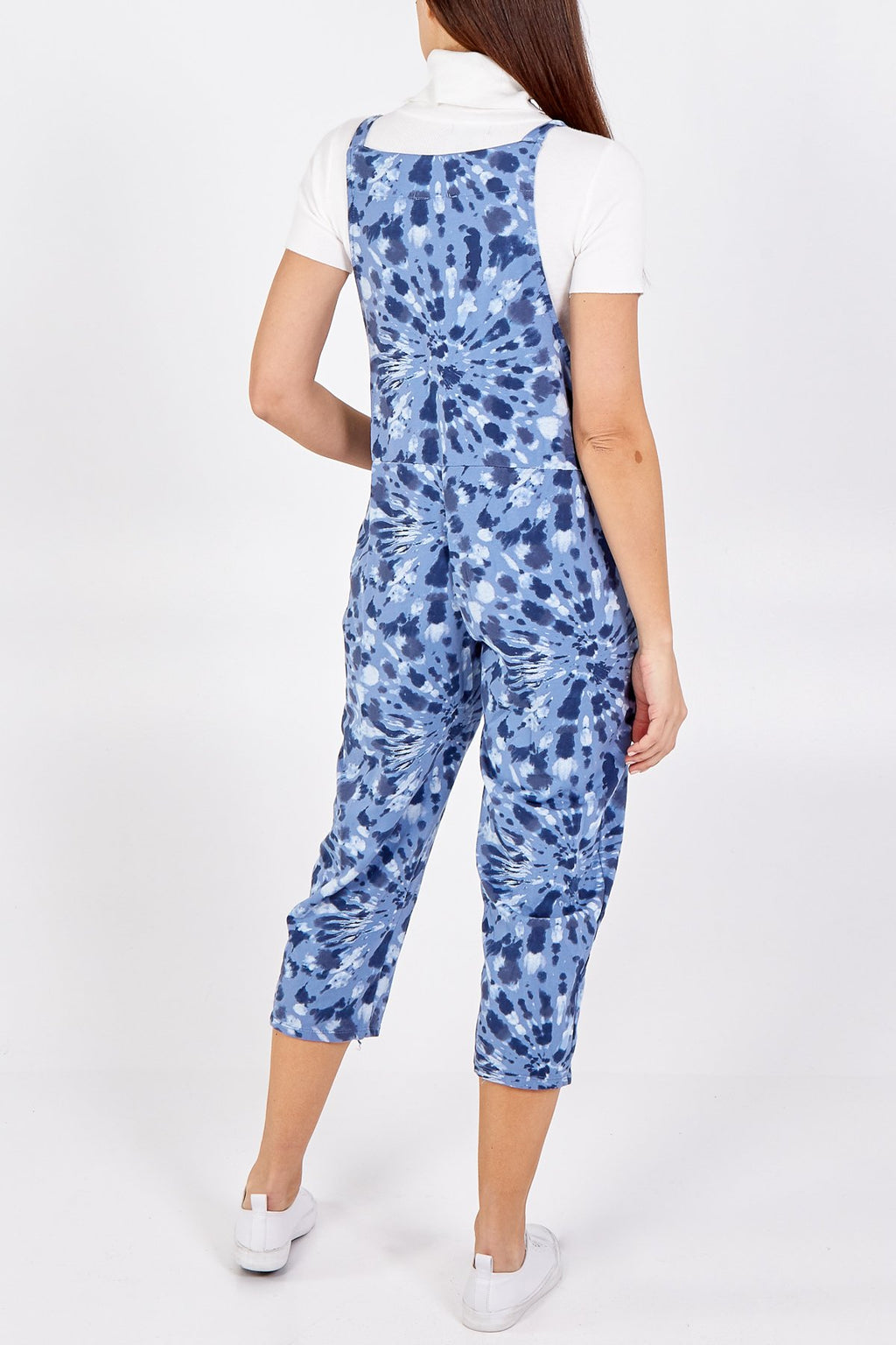 Blue Spiral Tie Slouch Dungarees